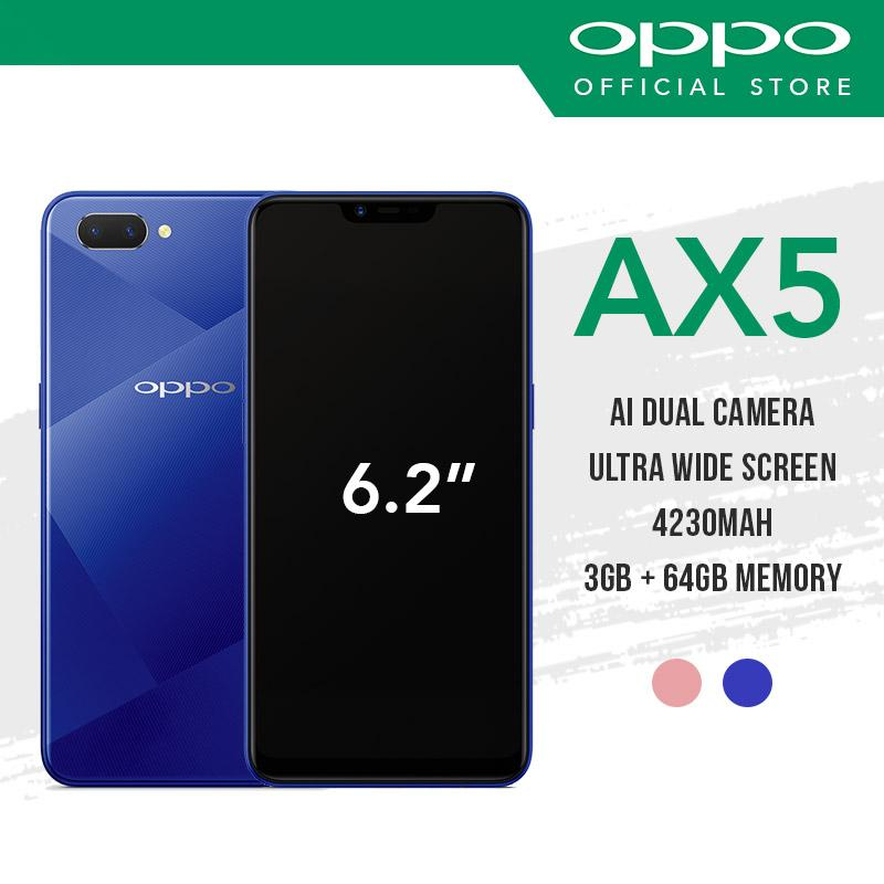 [OPPO Official] OPPO AX5 with 2 Years Warranty Free Fast Speed 10800maH Powerbank