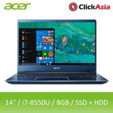 Acer Swift 3 (SF314-54G-8348) – 14″ FHD/i7-8550U/2*4GB DDR4/128GB SSD+1TB HDD/Nvidia MX150/W10 (Blue)