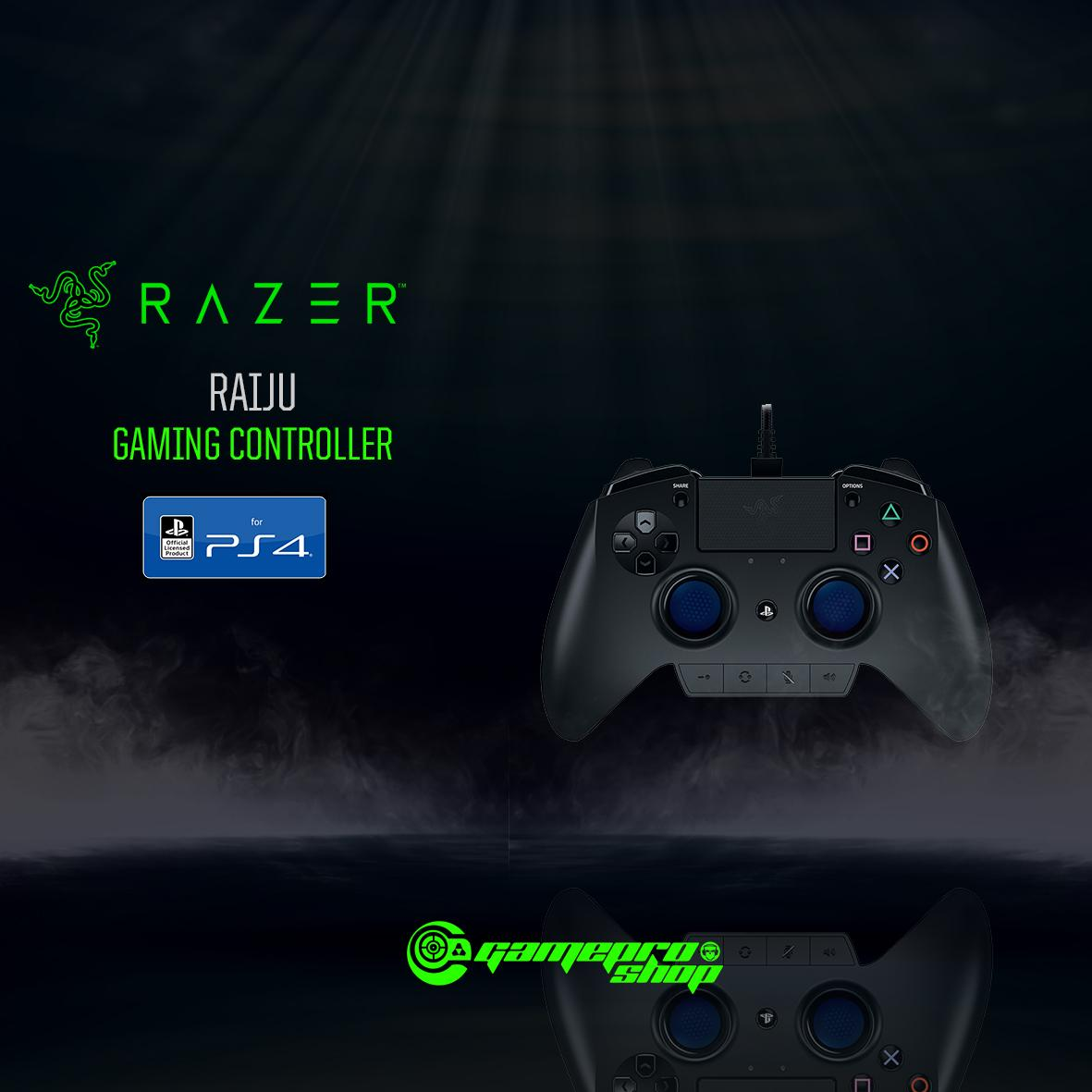 RAZER RAIJU GAMING CONTROLLER FOR PS4 *HAJI PROMO*