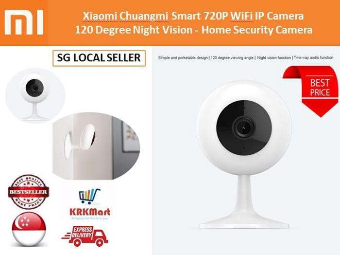 Xiaomi Chuangmi Smart 720P WiFi IP Camera 120 Degree Night Vision – Home Security Camera