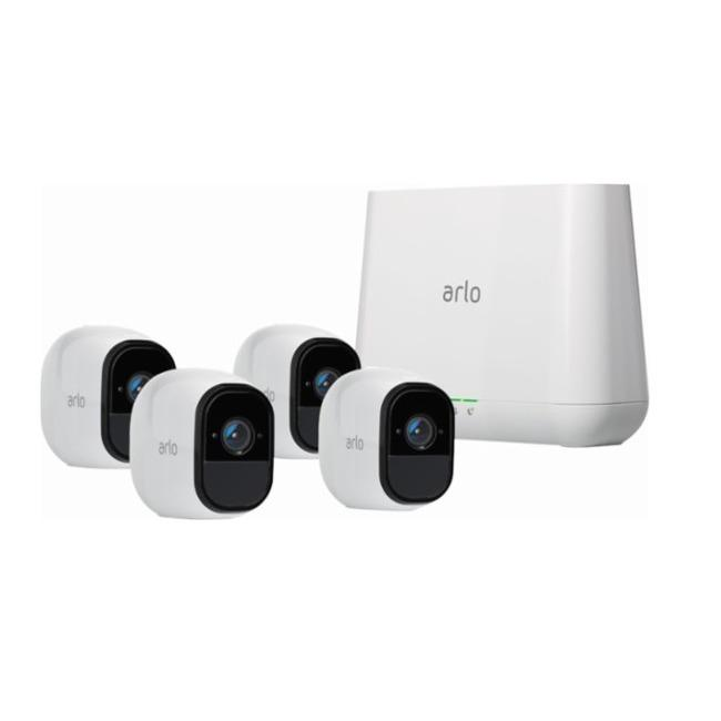 NETGEAR Arlo Pro 2 Smart Security System with 4 Cameras Pack (VMS4430P)