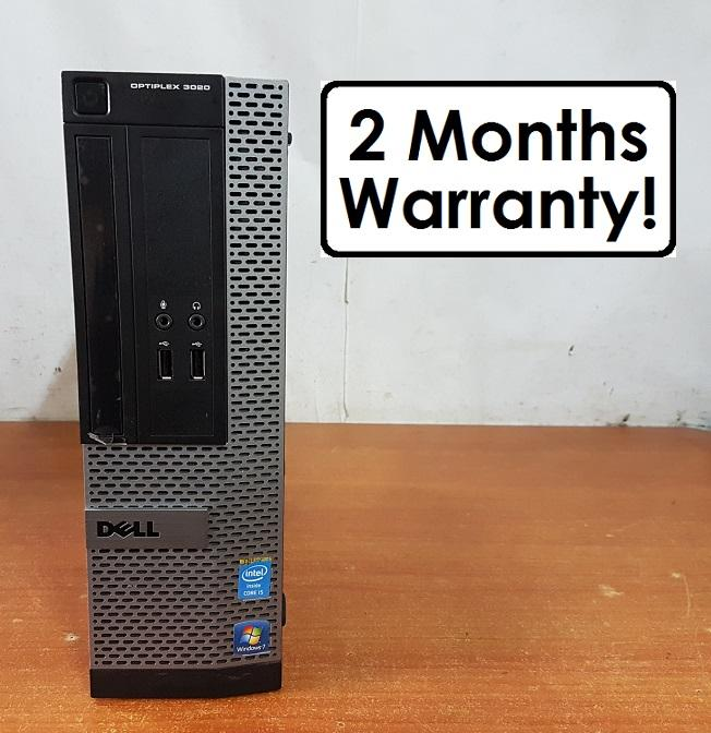 8GB RAM Core i5 Gen4: Dell Optiplex 3020 SFF (Refurbished Desktop CPU)