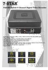Mini Hybrid 4CH AHD 1080P DVR 6 IN 1 AHD TVI CVI XVI CVBS 960H Security CCTV DVR HDMI DVR NVR Support 1080P IP Camera – 4 Channel DVR+NVR+XVR (APP:XMEYE)