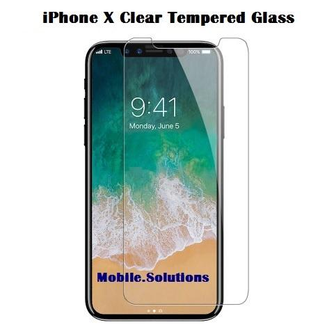 iPhone X Tempered Glass Screen Protector (Clear)