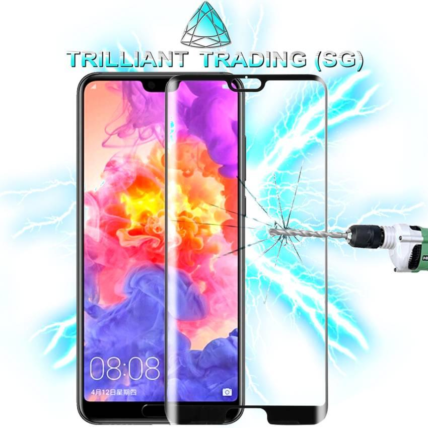 For Huawei P20 Pro 0.3mm 9H Surface Hardness 3D Full Screen Tempered Glass Film