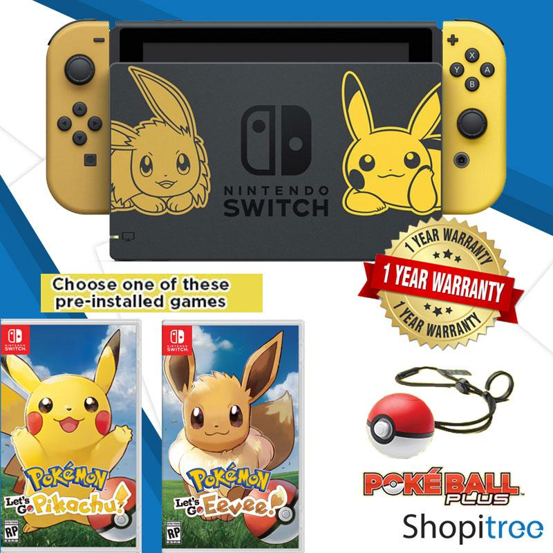 [Pre-Order] Nintendo Switch Console Pokemon Lets Go Edition + 1 Year Warranty By Nintendo Distributor [Shipped by 16 November 2018]