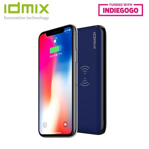 Idmix Slim 8000mAh QC3.0 USB + PD2.0 + 10W/7.5W Wireless Charging World Fastest Charging Qualcomm Quick Charge 3.0 Type-C Power Delivery 2.0 Power Bank