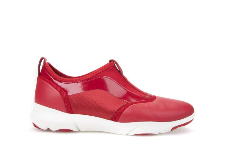 geox geox geox chaussures femmes basket d nébuleuse s b rouge 585667