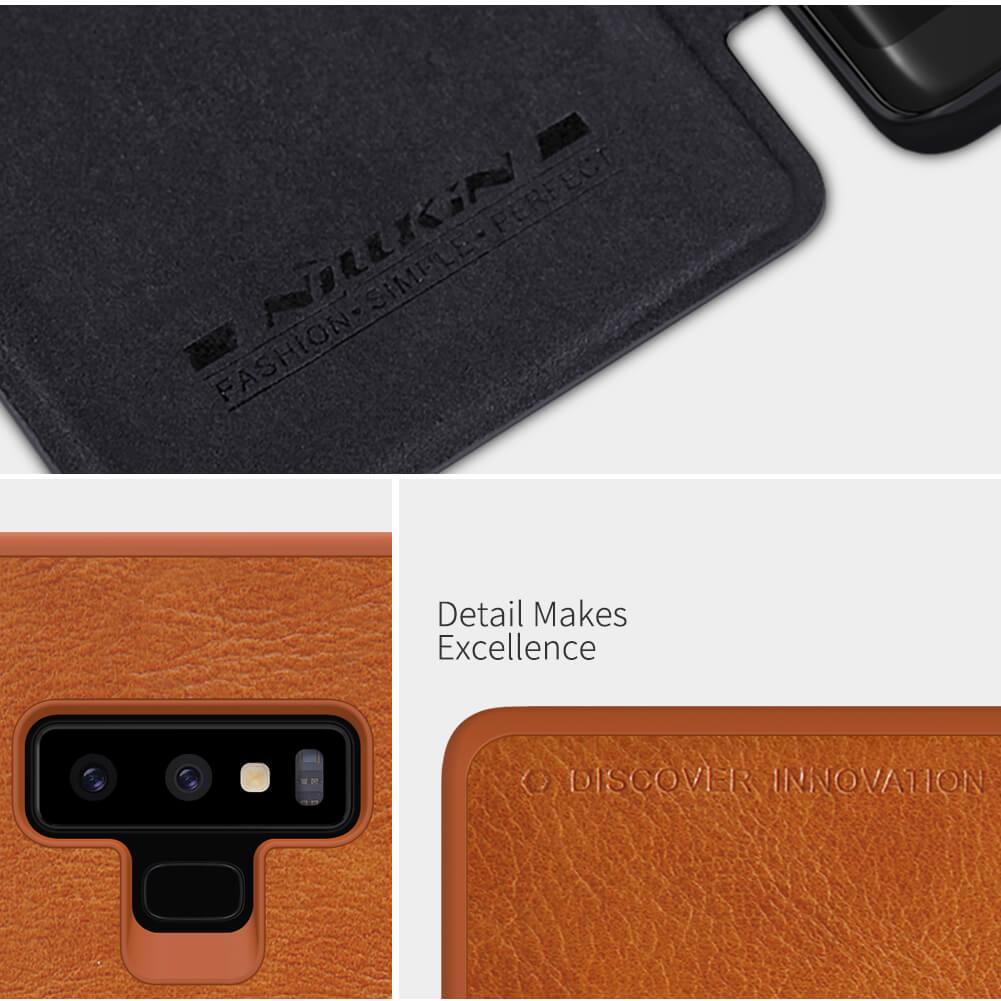 Samsung Note 9 BLACK/BROWN QIN Leather Flip Case by NILLKIN