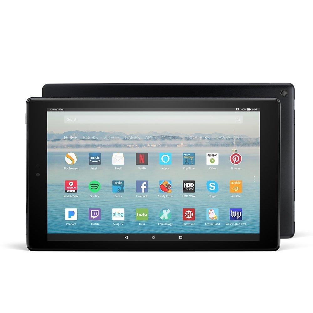 Amazon Fire HD 10 Tablet (Black) with Alexa Hands-Free, 10.1″ 1080p Full HD Display, 32 GB – with Special Offers