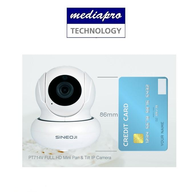 Sineoji PT714V Mini Full HD 1080p WiFi Camera with 2-way Audio