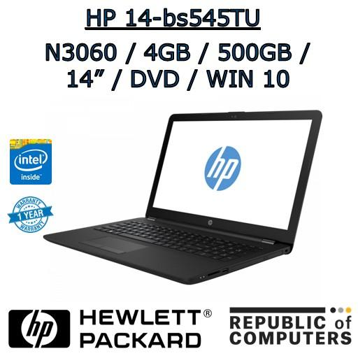 HP 14-bs545TU N3060 / 4GB / 500GB / 14