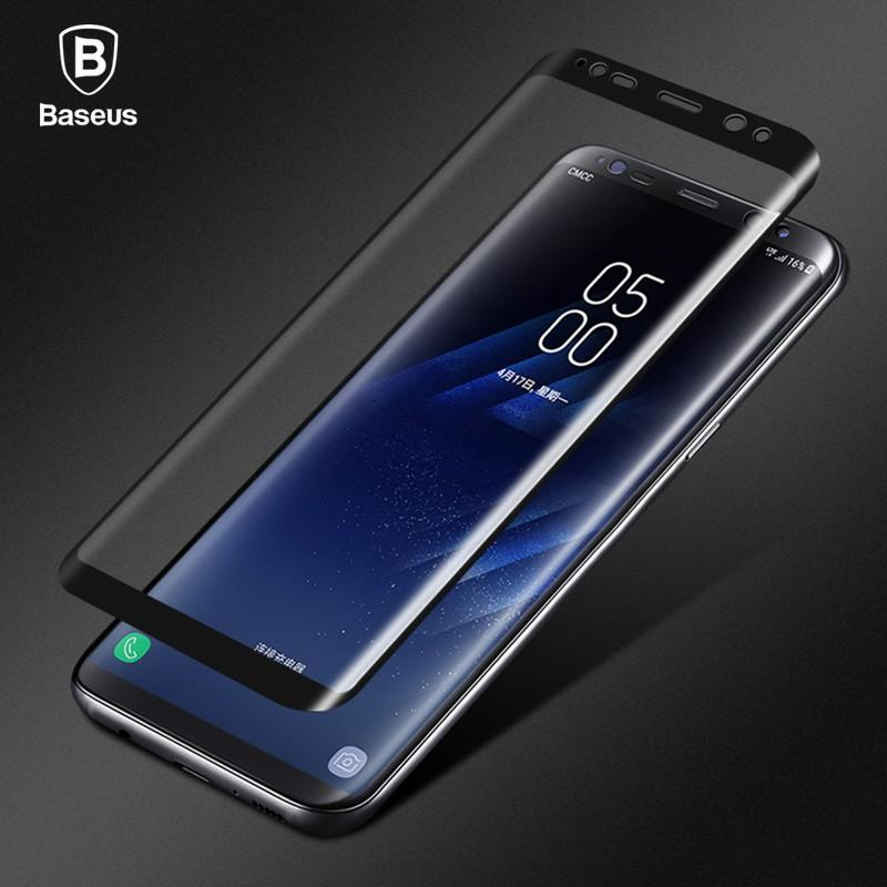 Baseus 3D Screen Protector For Samsung Galaxy S8/ S8 plus Surface Full Screen Tempered Glass Thin 9H Protective Film 0.3mm