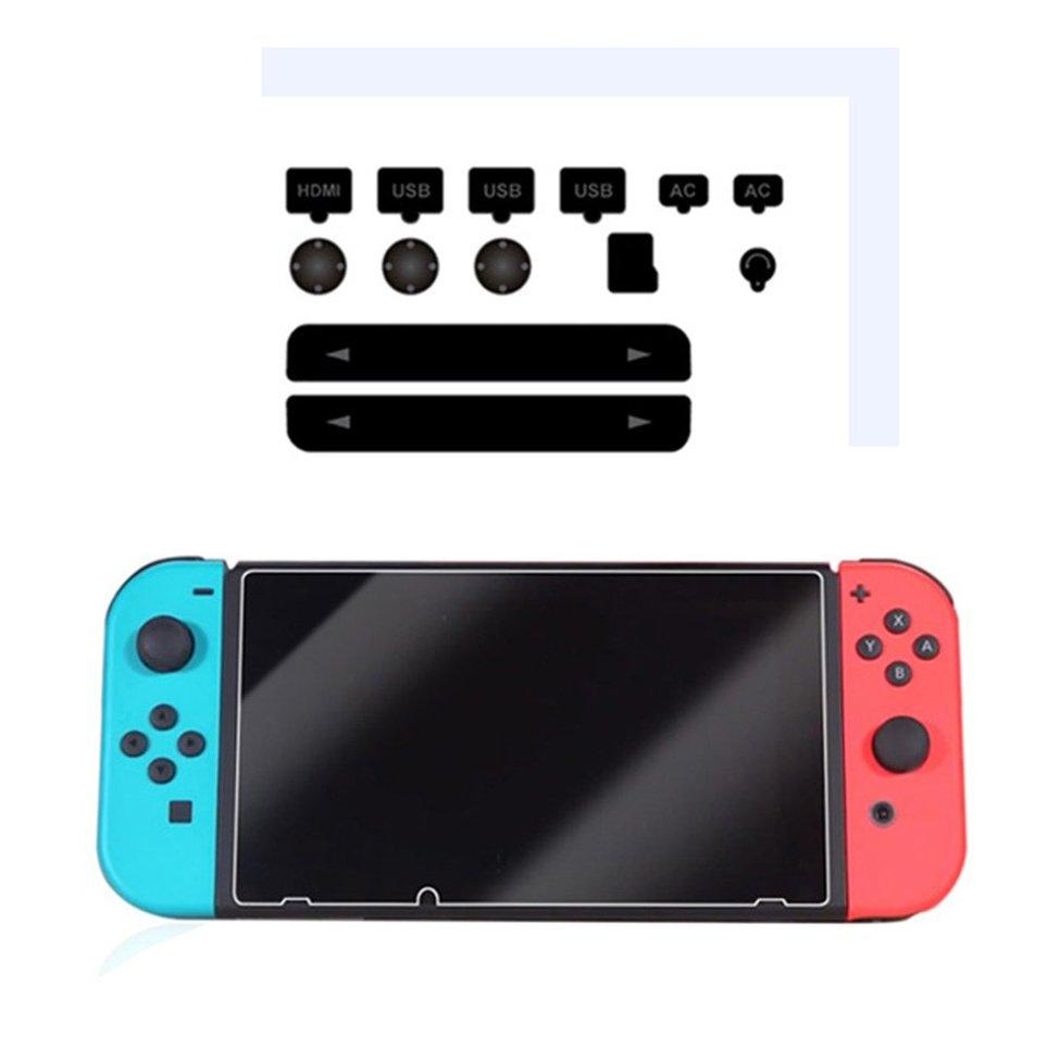 OH Dustproof Kit + Hardness Tempered Glass Screen Protective Film For NS Console Black - intl