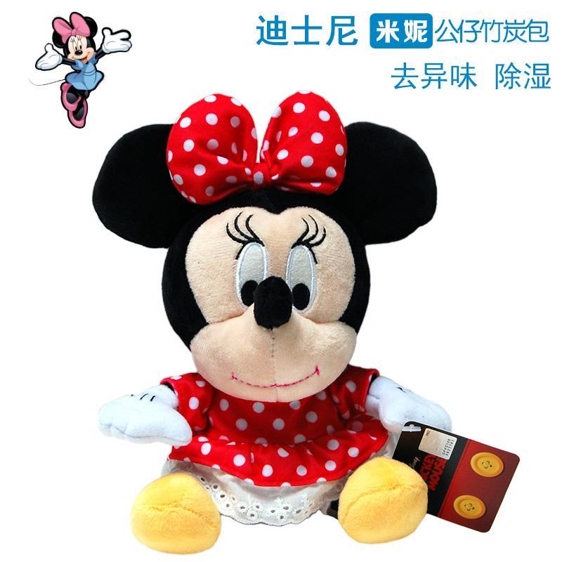Disney/Disney Minnie Nhung Lông Búp Bê Túi Than Tre Hình Chuột Mickey Không Khí Làm Mát Xe Khử Mùi Lạ