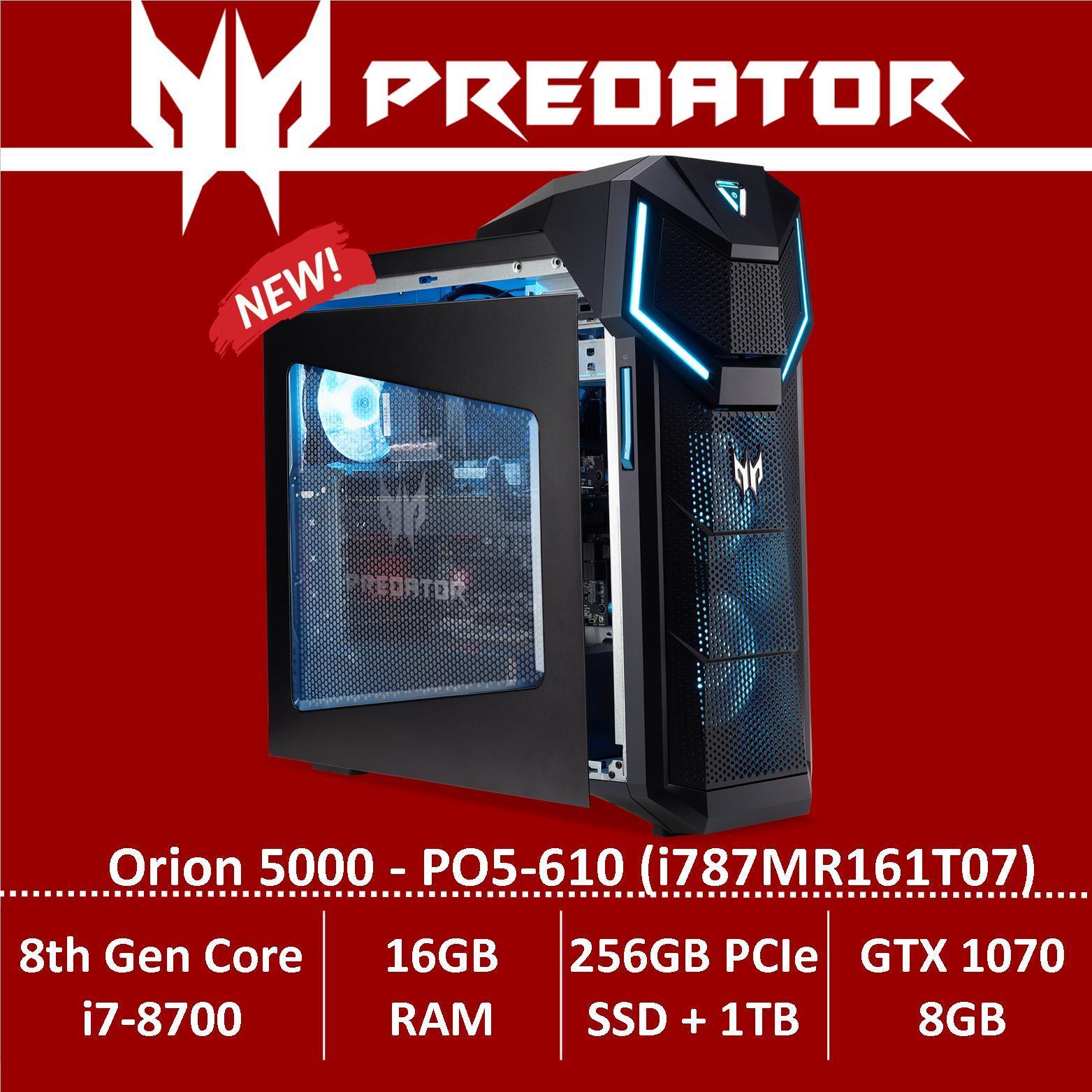 Predator Orion 5000 PO5-610 (i787MR161T07) Gaming Desktop