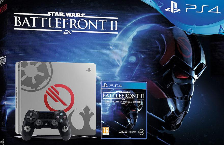SONY PLAYSTATION 4 - 1TB SLIM GREY + STAR WARS BATTLEFRONT II - LIMITED EDITION BUNDLE CUH-2102B