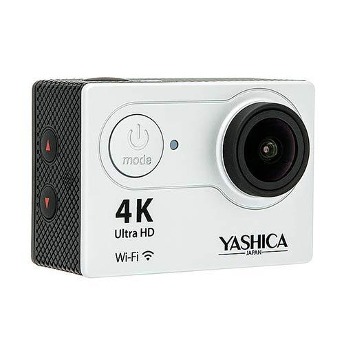 Yashica YAC340 4K WiFi Action Camera with mounts & accessories