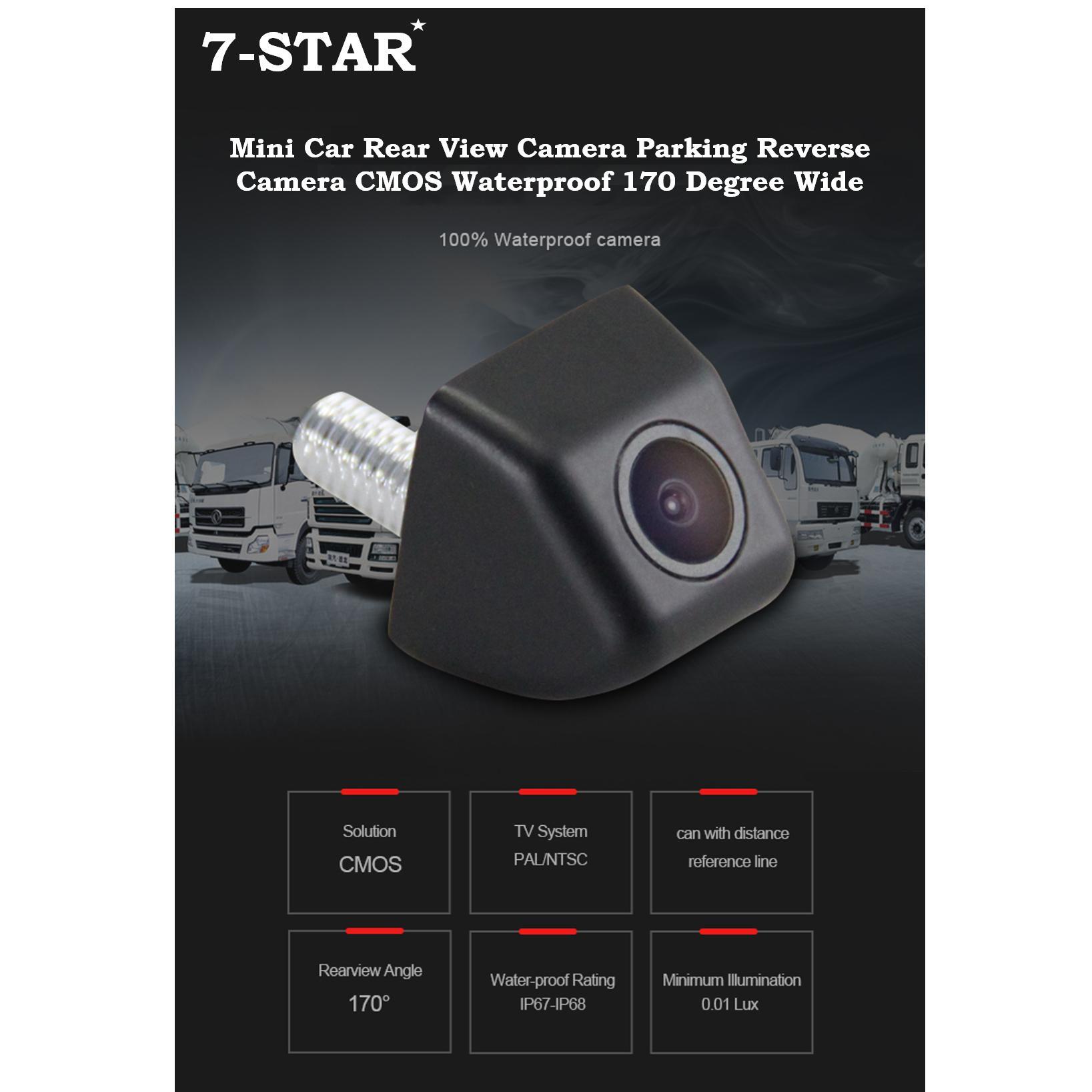 Mini Car Rear View Camera Parking Reverse Camera CMOS Waterproof 170 Degree Wide