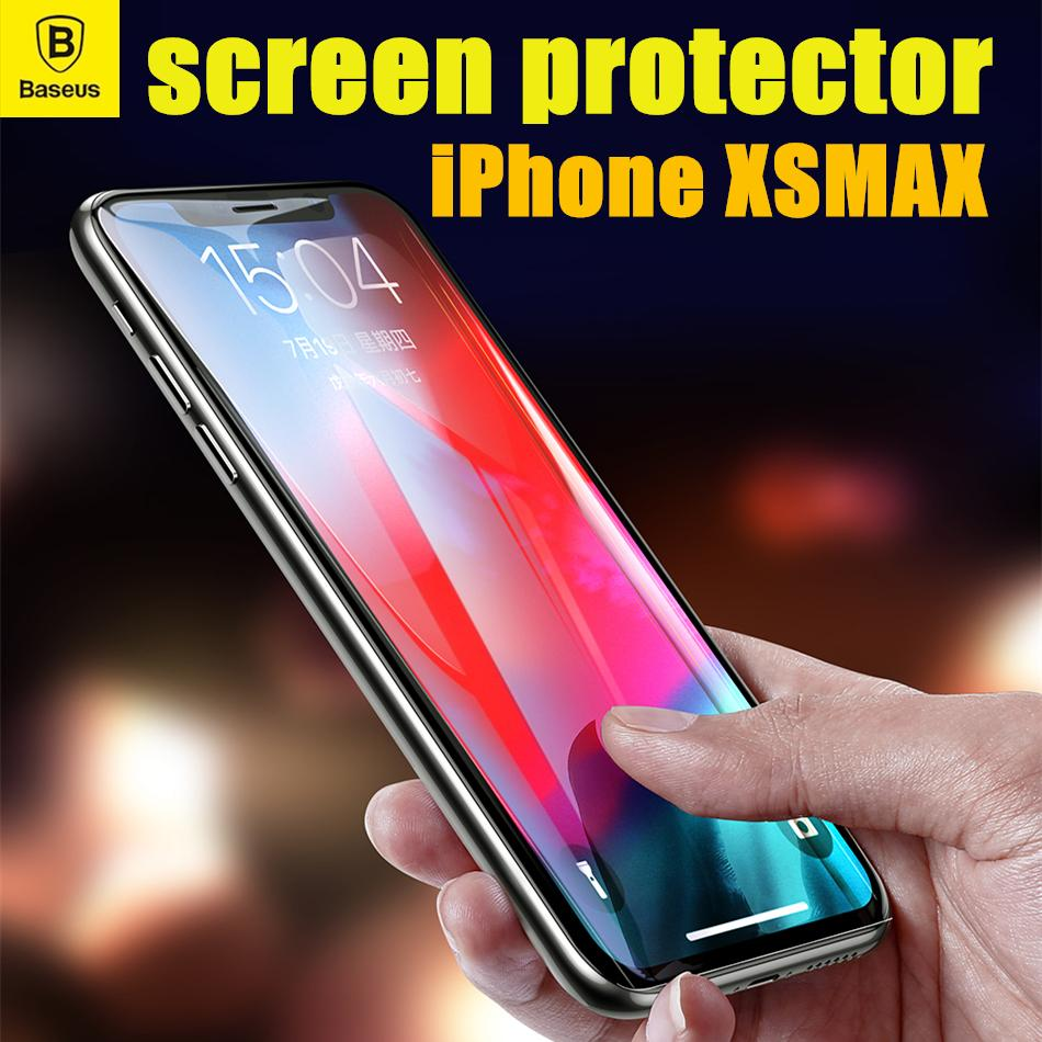 Baseus iPhone X XS 5.8 inch 0.3mm All-screen Tempered Glass Screen Protector Glass Film Black