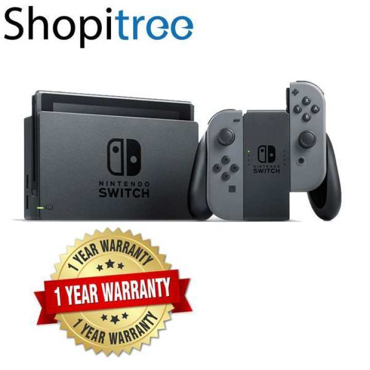 Nintendo Switch Grey Console + 1 Year Local Warranty [Best Seller]