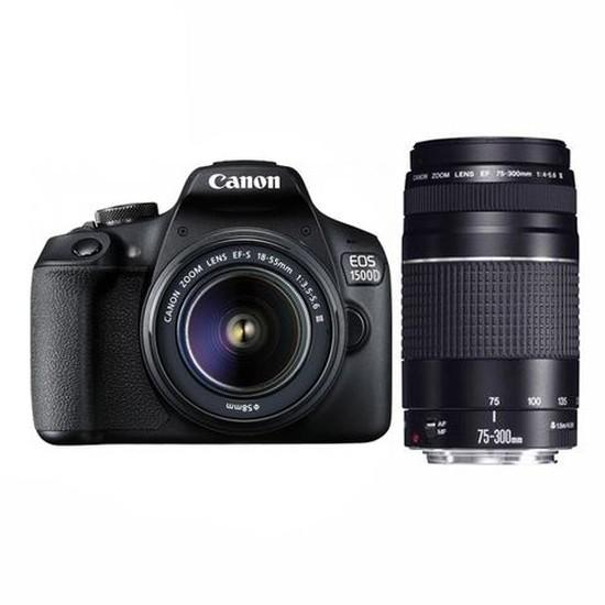 CANON EOS 1500D with EF-S 18-55MM F/3.5-5.6 IS II LENS ( warranty )+EF75-300mm III