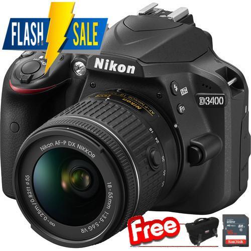 Nikon D3400 + AF-P 18-55mm VR kit