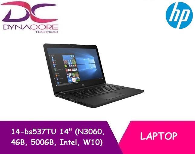 HP 14-bs537TU 14″ Laptop Black (N3060, 4GB, 500GB, Intel, W10)