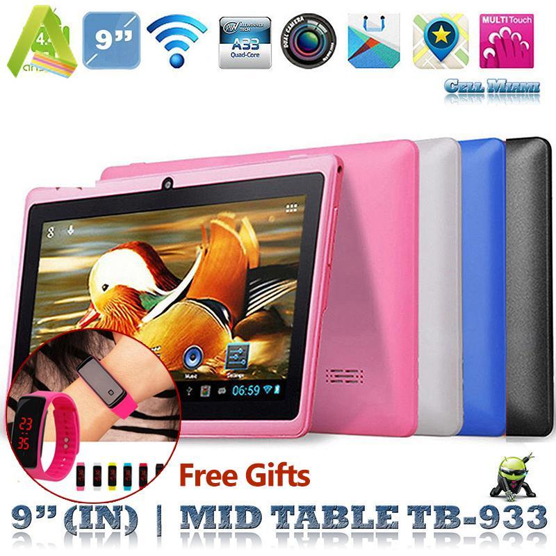 "9"" A33 Quad Core Dual Camera Google Android 4.4 WIFI HD 1G + 16G Tablet PC US"