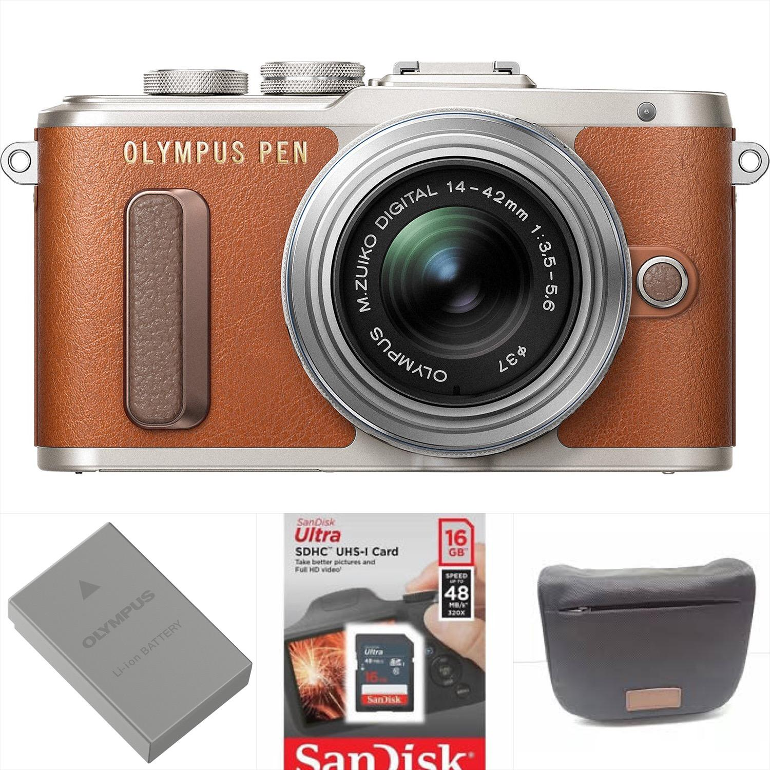 Olympus PEN E-PL8 Mirrorless Micro Four Thirds Digital Camera with 14-42mm Lens (Brown)Warranty