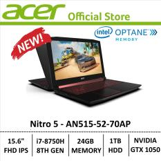 Acer Aspire Nitro 5 AN515-52-70AP Gaming Laptop – 8th Generation Core i7+ Processor with GTX 1050 Graphics (Optane Memory)