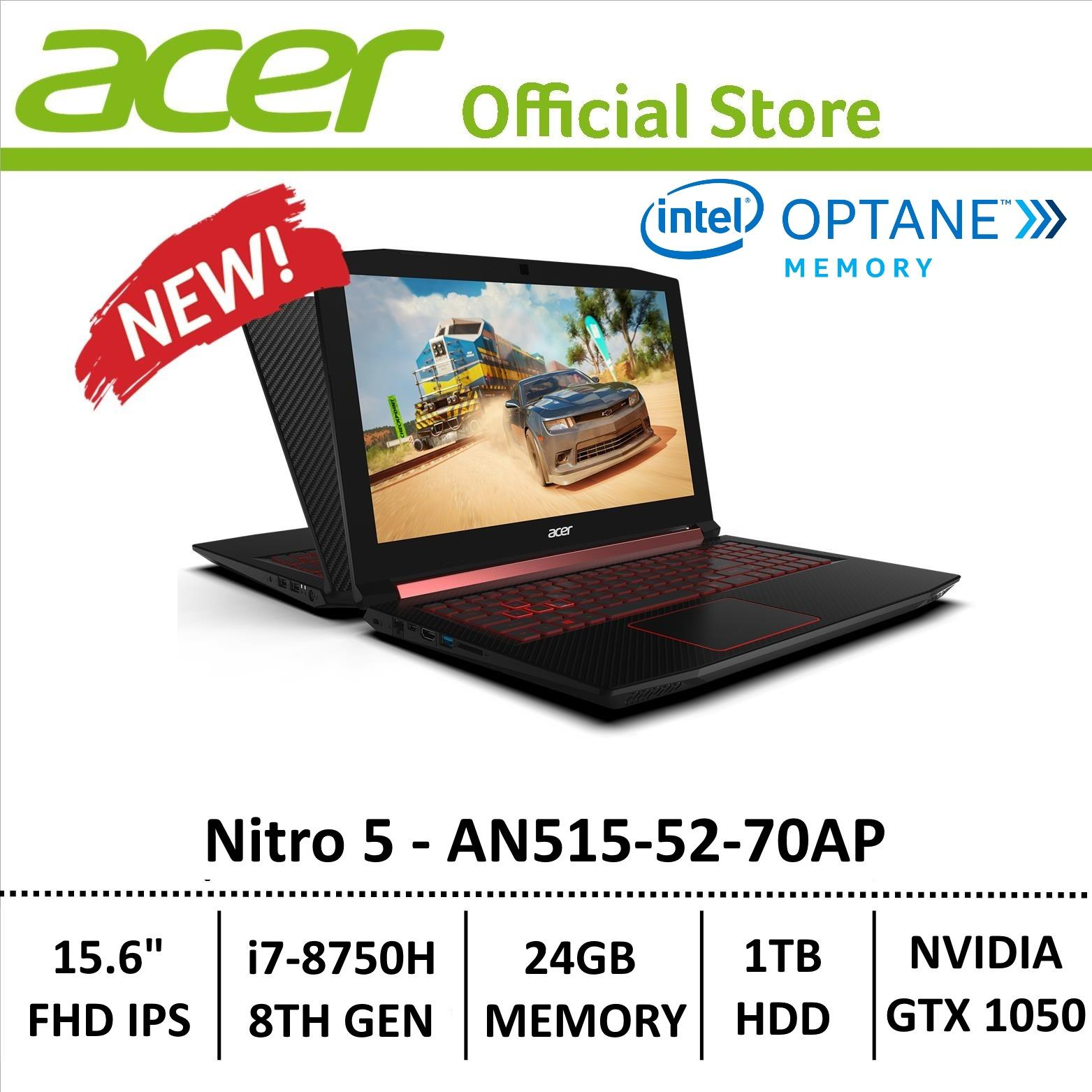 Acer Aspire Nitro 5 AN515-52-70AP Gaming Laptop - 8th Generation Core i7+ Processor with GTX 1050 Graphics (Optane Memory)