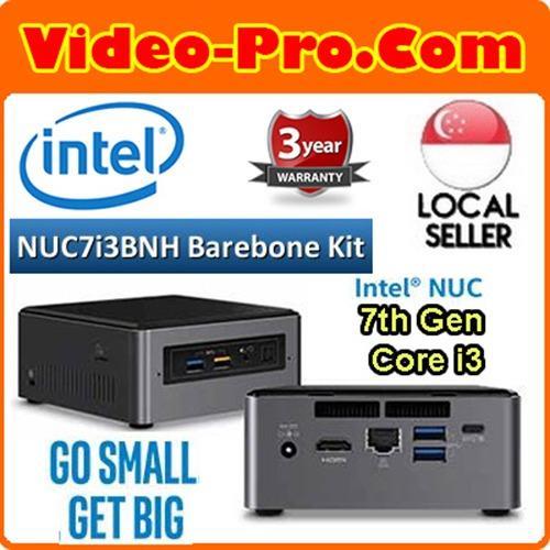 Intel NUC7i3BNH 7th Gen Core i3 Barebone System i3-7100U, M.2 / 2.5inch SATA 6Gb/ s, Micro SDXC Slot , (No RAM, SSD, OS) 3 Years Warranty