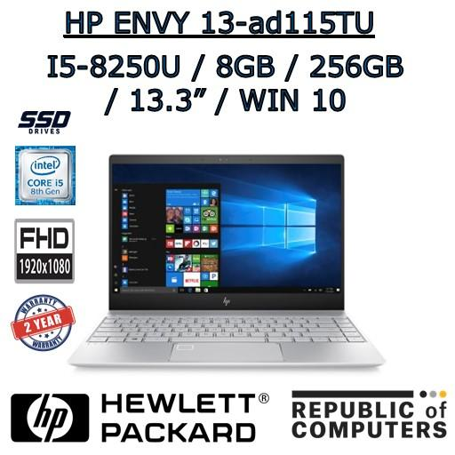 HP ENVY 13-ad115TU I5-8250 / 8GB / 256GB SSD / 13.3″ FHD IPS / WINDOW 10