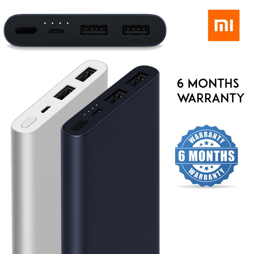 6 Months Warranty! Xiaomi Powerbank 10000mAh 2018 Two ports