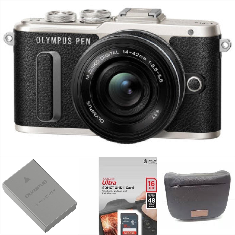 Olympus PEN E-PL8 Mirrorless Micro Four Thirds Digital Camera with 14-42mm Lens (Black) Warranty