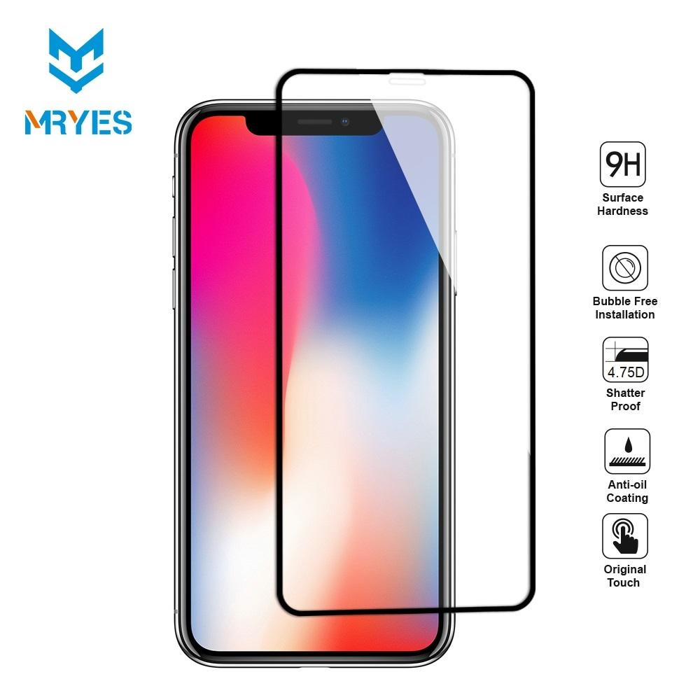 MrYes iPhone XS Max / XS Case Friendly Tempered Glass Screen Protector