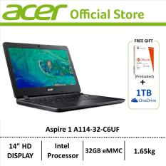 Acer Aspire 1 A114-32-C6UF (Black) 14-Inch Laptop – Preloaded Microsoft Office 365 Personal