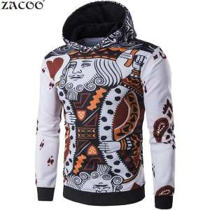Hình ảnh GA Men抯 Fashion 3D Playing Cards Poker Printing Pullover Hoodie Sweatshirts
