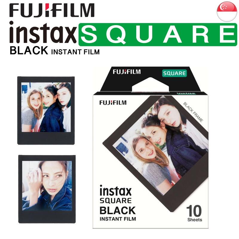 Fujifilm Instax Square Black Frame Instant Polaroid Film for SQ10 SQ6 SP3 Square Printer
