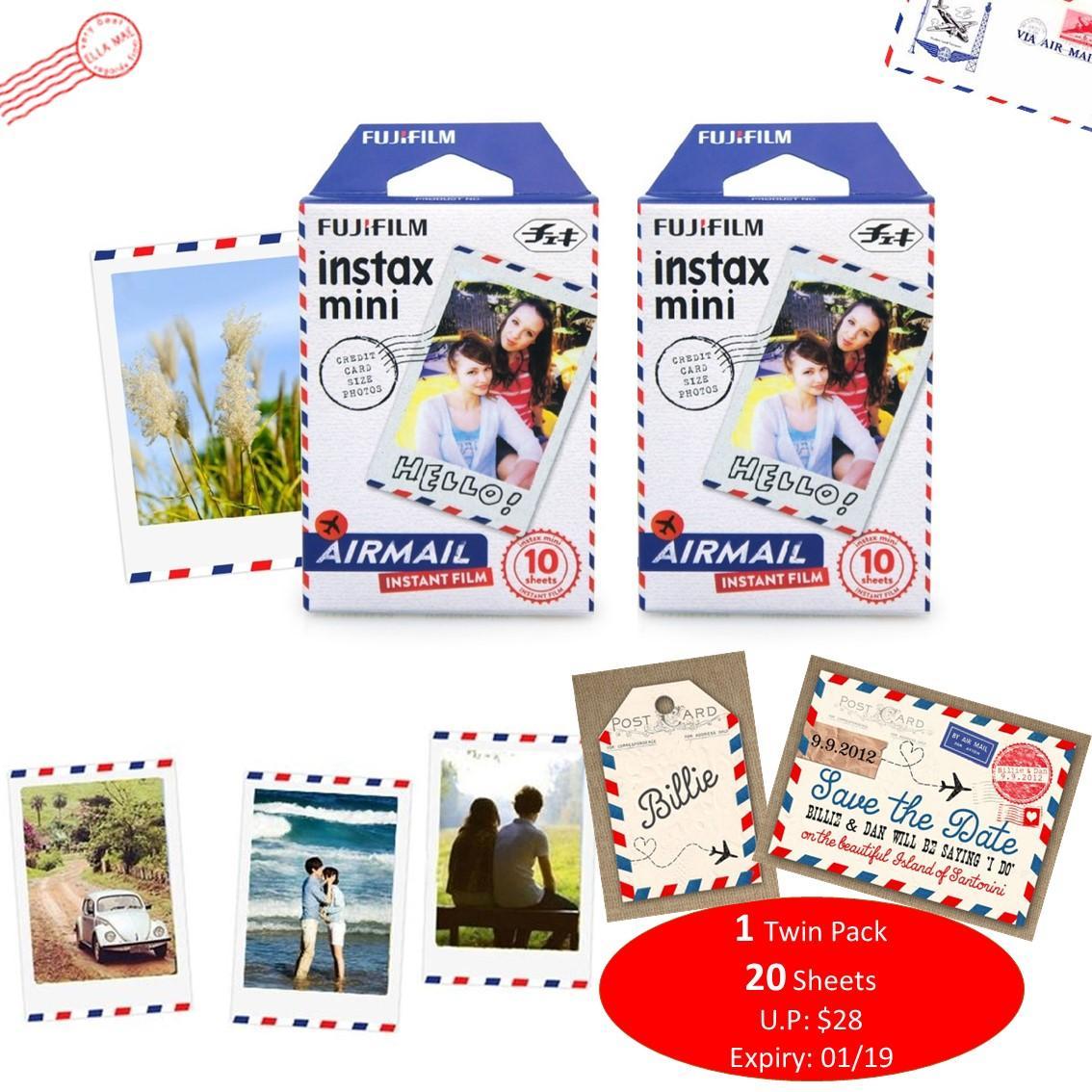 Fujifilm Instax Mini Film Airmail Twin Pack Expiry 01/19 onwards