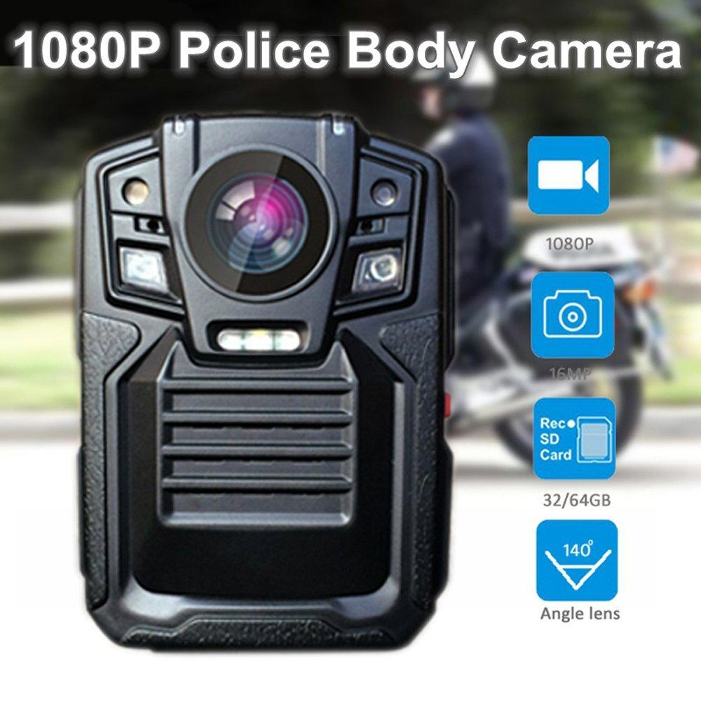 32GB HD 1080P Police Force Tactical Body Worn Camera 5~8 hours 140Auto Infrared Night-Vision Motion Detection Police Military Body Camera