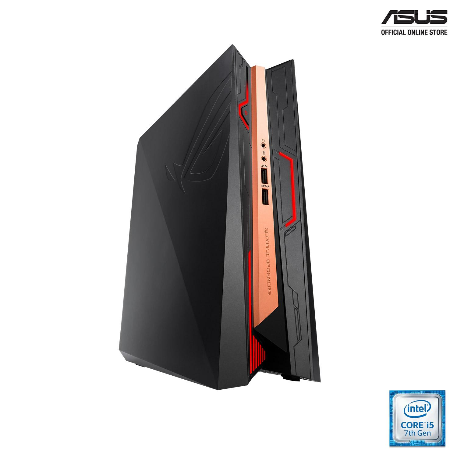 ASUS ROG GR8 II (GR8 II-T080Z)VR-ready mini gaming PC with custom ASUS GeForce GTX 1060 6G graphics, Windows 10 , up to desktop-grade Intel Core i5 processor, Aura Sync RGB LED, 4K, DDR4 RAM, Intel 802.11ac Wi-Fi