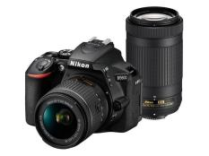 Nikon D5600 Camera with 18-55mm VR +AFp70-300mm VR twin Lens kit export only(Black)
