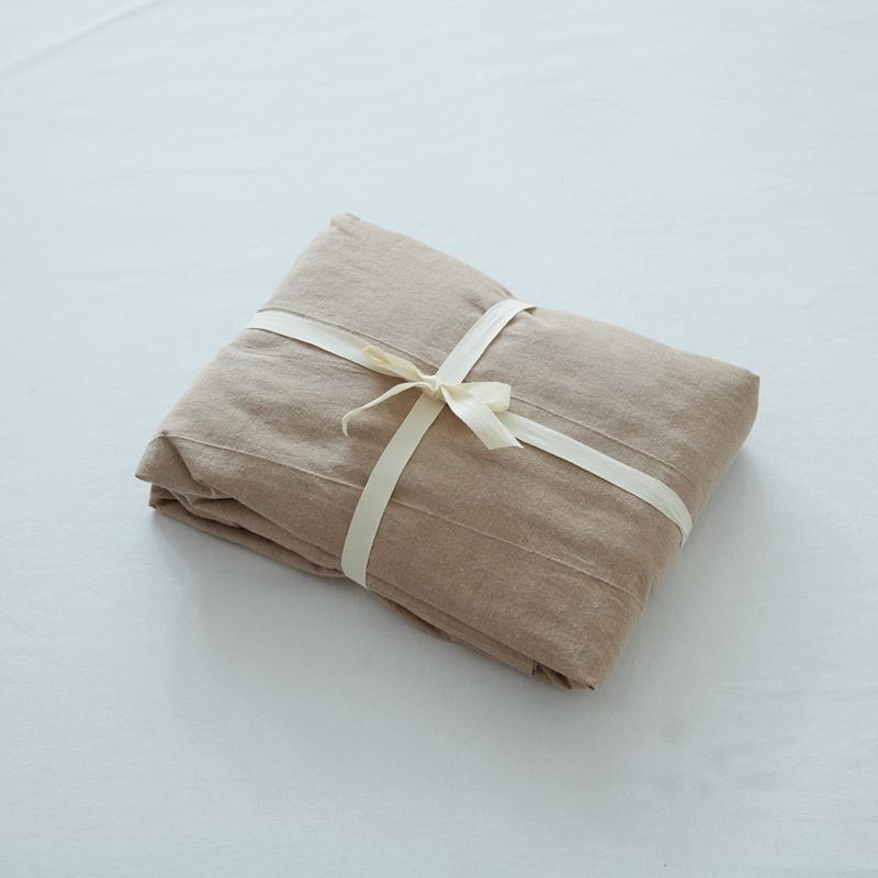 Phong Cách Nhật Bản Giản Lược 100% Cotton Duy Nhất Sản Phẩm Ga Bọc Đệm 100% Cotton Đồng Bằng Bộ Ga Giường Ga Giường Đơn Chiếc Duy Nhất Giường Đôi Vật Dụng