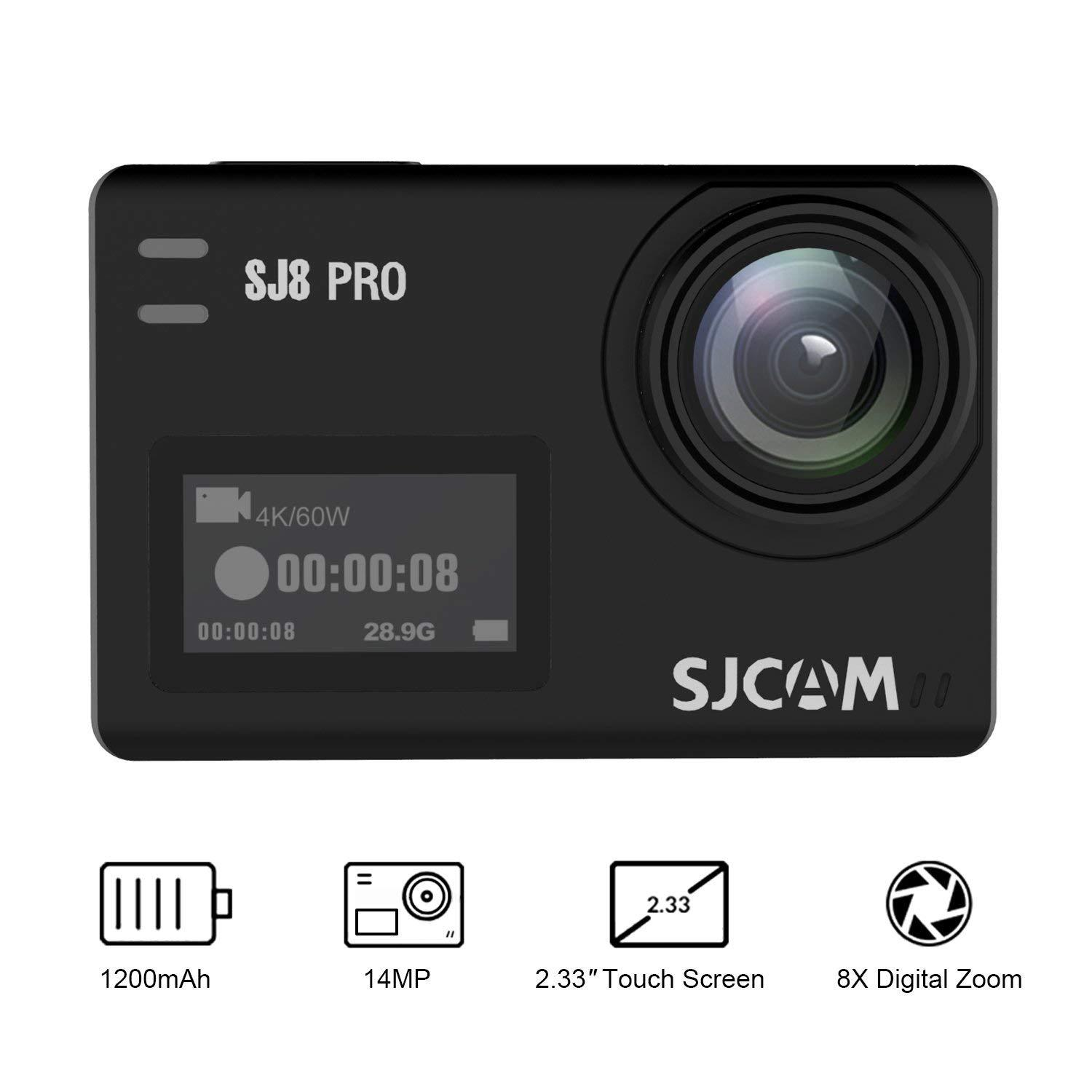 SJCAM SJ8 Pro 4K 60fps Sport Action Camera Ambarella H22 S85 Sony IMX377 Wi-Fi Sports Cam Underwater Camcorder 12MP 30M...