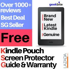 GeekBite Amazon Kindle Paperwhite 300 PPI Black + Kindle Premium Pouch + Screen Protector (Wifi/Special Offers)
