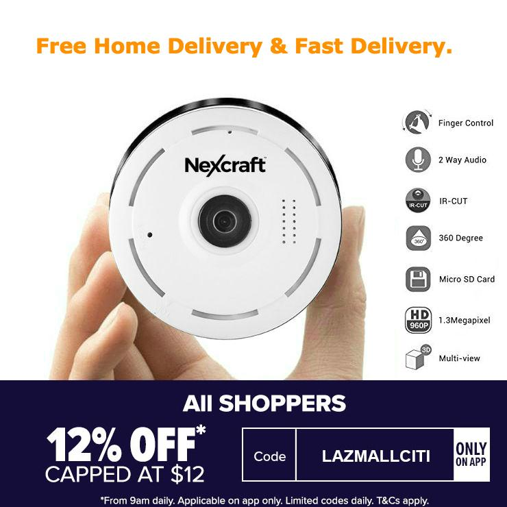 Nexcraft 360° Panoramic Wireless IP Camera Audio Video WiFi 1.3 Megapixel HD Fish-eye Lens Wide Angle 10m/30ft Night Vision VR CCTV Home Security Surveillance Cameras System WIFI 360 Coverage Home Safety CCTV DVR Trendy Flash Sales Monitor Nanny 1080P Spy
