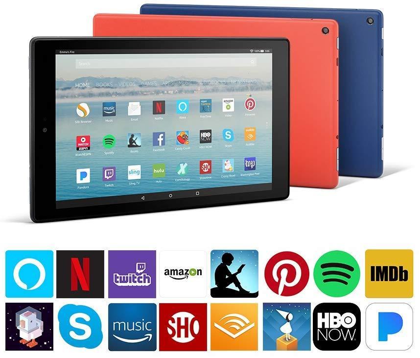 Fire HD 10 Tablet w/ Alexa, 10.1″ 1080p Full HD, 32 GB [Black]