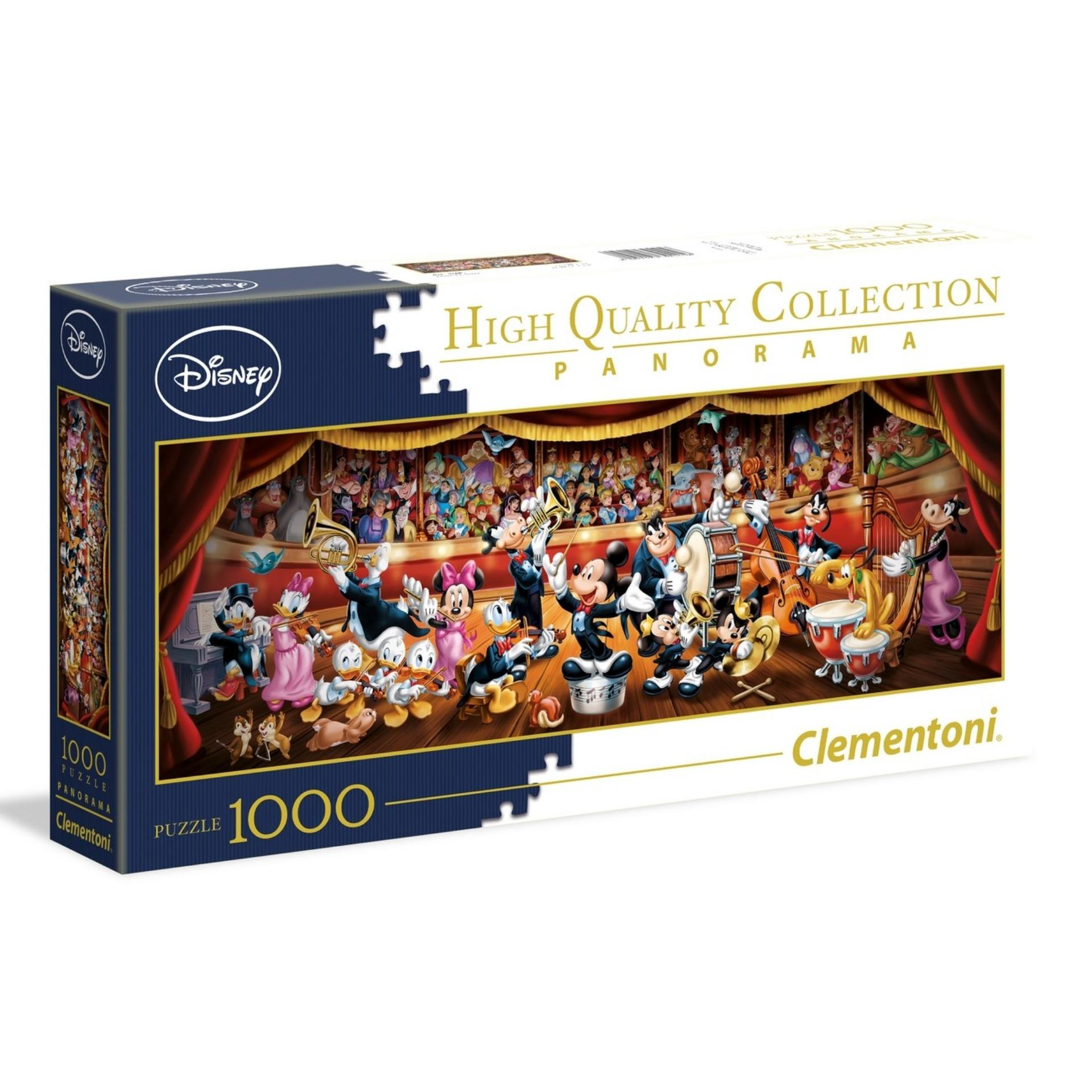 Clementoni 1000Pcs Panorama Jigsaw Puzzle Disney Orchestra
